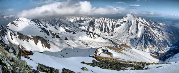 Žiárská dolina a Baranec. Květen 2008.
